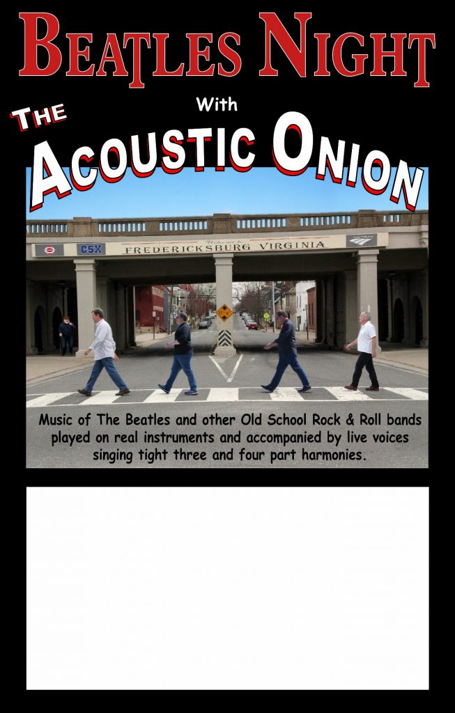 Beatles Night with The Acoustic Onion